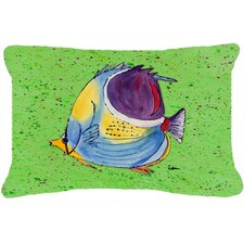 Tropical Fish Indoor/Outdoor Throw Pillow