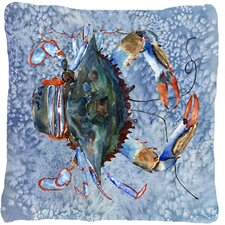 Crab Indoor/Outdoor Throw Pillow