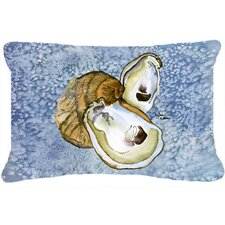 #1 Oyster Indoor/Outdoor Throw Pillow