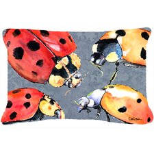 Fresh Lady Bugs Indoor/Outdoor Throw Pillow