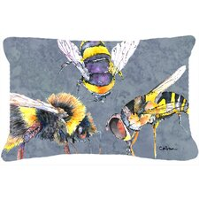 Bee Bees Times Three Indoor/Outdoor Throw Pillow