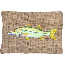 Snook Indoor/Outdoor Throw Pillow