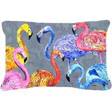 Flamingo Six Senses Indoor/Outdoor Throw Pillow