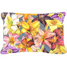 Day Lillies Indoor/Outdoor Throw Pillow