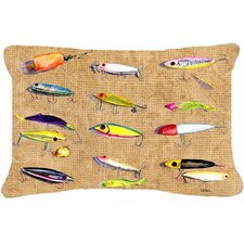 Fishing Lures Indoor/Outdoor Throw Pillow