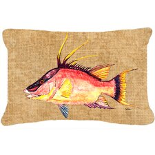 Hog Snapper Indoor/Outdoor Throw Pillow