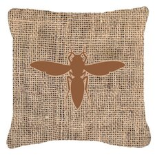 Yellow Jacket Burlap Indoor/Outdoor Throw Pillow