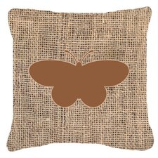 Butterfly Burlap Indoor/Outdoor Throw Pillow