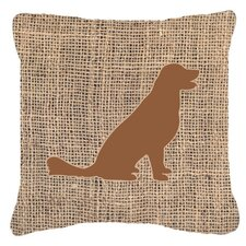 Labrador Burlap Indoor/Outdoor Throw Pillow
