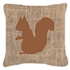 Squirrel Burlap Indoor/Outdoor Throw Pillow