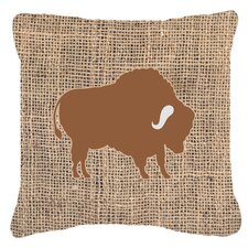 Buffalo Burlap Indoor/Outdoor Throw Pillow