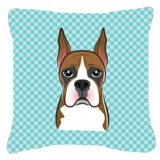 Checkerboard Boxer Indoor/Outdoor Throw Pillow