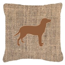 Comparison Labrador Burlap Indoor/Outdoor Throw Pillow