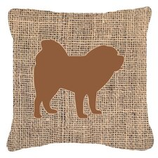 Chow Chow Burlap Indoor/Outdoor Throw Pillow