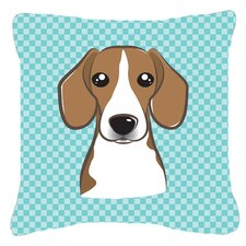Checkerboard Beagle Indoor/Outdoor Throw Pillow