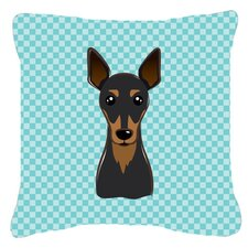 Checkerboard Min Pin Indoor/Outdoor Throw Pillow
