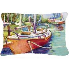 Best #1 Red Sailboat Indoor/Outdoor Throw Pillow
