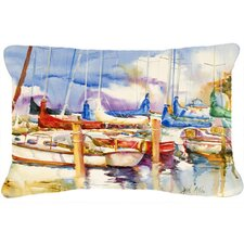 Cheap End Stall Sailboats Indoor/Outdoor Throw Pillow