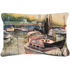 Black Sails Sailboat Indoor/Outdoor Throw Pillow
