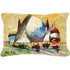 Bimini Sails Sailboat Indoor/Outdoor Throw Pillow