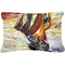 Today Only Sale Red Sails Sailboat Indoor/Outdoor Throw Pillow