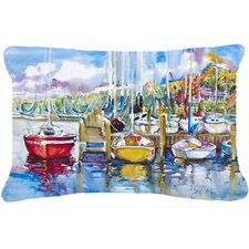 Paradise Yacht Club Sailboats Indoor/Outdoor Throw Pillow