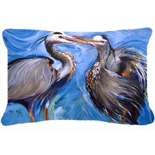 Blue Heron Love Indoor/Outdoor Throw Pillow