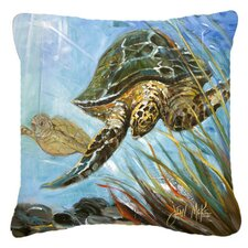 Loggerhead Sea Turtle Indoor/Outdoor Throw Pillow