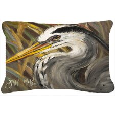 Blue Heron Indoor/Outdoor Throw Pillow