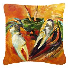 Wonderful Small Orange Crab Indoor/Outdoor Throw Pillow