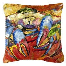 Red Crab Indoor/Outdoor Throw Pillow