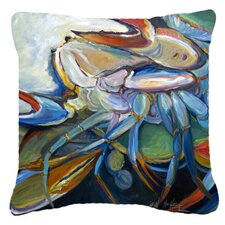Belly Crab Indoor/Outdoor Throw Pillow