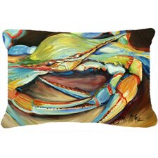 Cool Blue Crab Indoor/Outdoor Throw Pillow