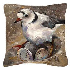 Piping Plover Indoor/Outdoor Throw Pillow