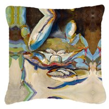 Three Big Claw Crab Indoor/Outdoor Throw Pillow