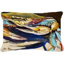 Crab To Crab Blue Crab Indoor/Outdoor Throw Pillow