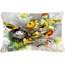 Spring Birds Indoor/Outdoor Throw Pillow