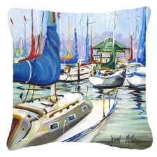 Day Break Sailboats Indoor/Outdoor Throw Pillow
