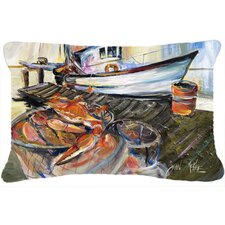 Blue Crab Trap Indoor/Outdoor Throw Pillow