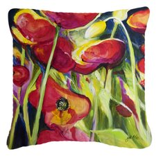 Poppies Indoor/Outdoor Throw Pillow