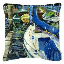Wonderful Sailboats Indoor/Outdoor Throw Pillow