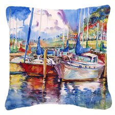 Tree Boats Sailboats Indoor/Outdoor Throw Pillow