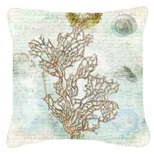 Coral Indoor/Outdoor Throw Pillow