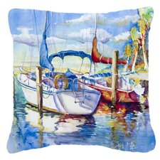 Towering Q Sailboats Indoor/Outdoor Throw Pillow