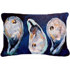 Oysters Give Me More Indoor/Outdoor Throw Pillow