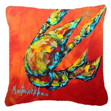 Crawfish Spicy Craw Indoor/Outdoor Throw Pillow