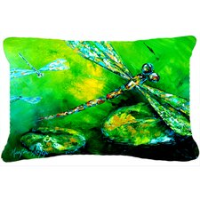 Dragonfly Summer Flies Indoor/Outdoor Throw Pillow