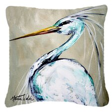 Blue Heron Smitty's Brother Indoor/Outdoor Throw Pillow