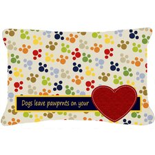 Dogs Leave Pawprints on Your Heart Indoor/Outdoor Throw Pillow