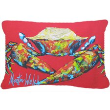 Crab Seafood Indoor/Outdoor Throw Pillow